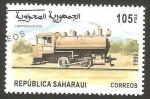 Stamps : Africa : Morocco :  República Saharaui - Locomotora