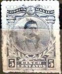 Sellos de America - México -  Intercambio 0,50 usd 5 cent. 1917