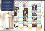 Sellos de Asia - Israel -  visita del Papa francisco a israel