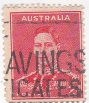 Stamps Australia -  Rey Jorge VI