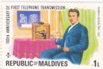 Sellos de Asia - Maldivas -  100 años del descubrimiento del teléfono