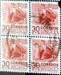 Stamps Mexico -  Intercambio 0,80 usd 4 x 30 cent. 1950