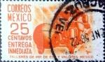 Sellos de America - México -  Intercambio 0,20 usd 25 cent. 1954