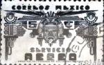 Sellos de America - México -  Intercambio 0,20 usd 5 cent. 1944