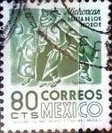 Stamps : America : Mexico :  Intercambio 0,25 usd 80 cent. 1975