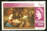 Stamps United Kingdom -   Caiman Islands. Christmas 1968