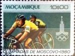 Stamps : Africa : Mozambique :  Intercambio cxrf 0,20 usd 10 escudos 1980