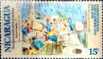 Stamps : America : Nicaragua :  Intercambio 0,20 usd 15 cent. 1975
