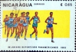 Stamps : America : Nicaragua :  Intercambio 0,20 usd 65 cent. 1983