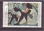 Stamps Jamaica -  figuras sentadas