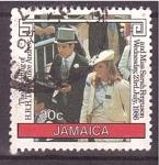 Sellos de America - Jamaica -  visita oficial