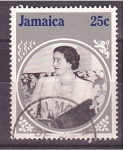 Stamps Jamaica -  85 años reina madre