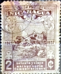 Stamps : America : Nicaragua :  Intercambio 0,20 usd 2 cent. 1937