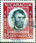 Stamps : America : Nicaragua :  Intercambio 0,20 usd 35 cent. 1960