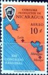 Sellos de America - Nicaragua -  Intercambio 0,20 usd 10 cent. 1961