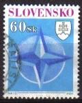 Sellos del Mundo : Europa : Eslovaquia : ESLOVAQUIA 2004 Scott 485 Sello OTAN Usado