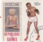 Stamps Guinea -  374 - Olimpiadas de Mexico, boxeo