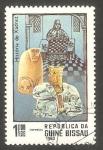 Stamps Guinea Bissau -  194 - Historia de la ajedrez