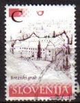 Sellos de Europa - Eslovenia -  ESLOVENIA 2001 Michel 370 Castillo Breziski Grad Usado