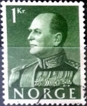 Stamps : Europe : Norway :  Intercambio 0,20 usd 1 krone 1959