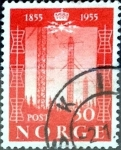 Stamps Norway -  Intercambio ma2s 0,20 usd 30 ore 1954