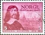 Sellos de Europa - Noruega -  Intercambio ma2s 0,20 usd 5 ore 1947