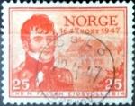 Sellos de Europa - Noruega -  Intercambio 0,20 usd 25 ore 1947