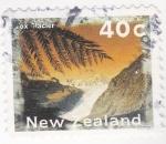 Sellos del Mundo : Oceania : Nueva_Zelanda :  paisaje- glaciar Fox