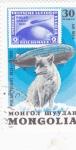 Sellos de Asia - Mongolia -  sobrevuelo sobre el ártico en zeppelin