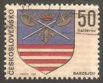 Stamps Czechoslovakia -  1755 - Escudo de la ciudad de Bardejov