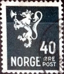 Sellos del Mundo : Europa : Noruega : 40 ore 1946