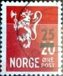 Sellos de Europa - Noruega -  Intercambio 0,20 usd 25 sobre 20  ore 1949