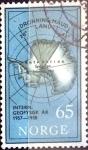 Sellos de Europa - Noruega -  Intercambio hbr 0,50 usd 65 ore 1957