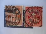 Stamps Switzerland -  Cruz sobre la placa de valores (10) Helvetia - Suiza.