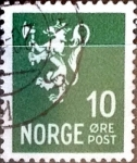 Stamps : Europe : Norway :  Intercambio 0,20 usd 10 ore 1940