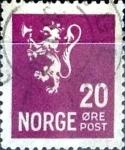 Sellos de Europa - Noruega -  Intercambio maxs 0,20 usd 20  ore 1927