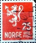 Sellos de Europa - Noruega -  Intercambio 0,20 usd 25 ore 1946