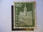 Stamps Switzerland -  Schaffhausen - Monumentos históricos.