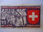 Stamps Switzerland -  Exposición Nacional Suiza - Zurich 1939.