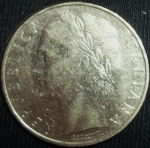 monedas de Europa - Italia -  1966 (Anverso)