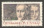 Stamps Czechoslovakia -   2031 - Combatientes de la resistencia, Jan Hajeeck y Marie Sedlackova