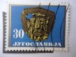 Stamps Yugoslavia -  Mascara de Oro de Trebeniste, 500 Años a:C