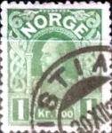 Sellos de Europa - Noruega -  Intercambio 0,20 usd 1 krone 1911
