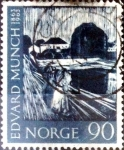 Stamps : Europe : Norway :  Intercambio 1,00 usd 90 ore 1963