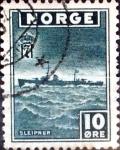 Sellos de Europa - Noruega -  Intercambio crxf2 0,20 usd 10  ore 1943
