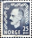 Stamps : Europe : Norway :  Intercambio 0,20 usd 25 ore 1951