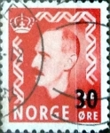 Stamps : Europe : Norway :  Intercambio 0,30 usd 30 sobre 25 ore 1951