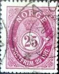 Sellos de Europa - Noruega -  Intercambio ma4xs 0,30 usd 25 ore 1910