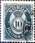 Sellos de Europa - Noruega -  Intercambio 0,20 usd 10 ore 1950
