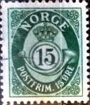 Sellos de Europa - Noruega -  Intercambio ma2s 0,40 usd 15 ore 1950